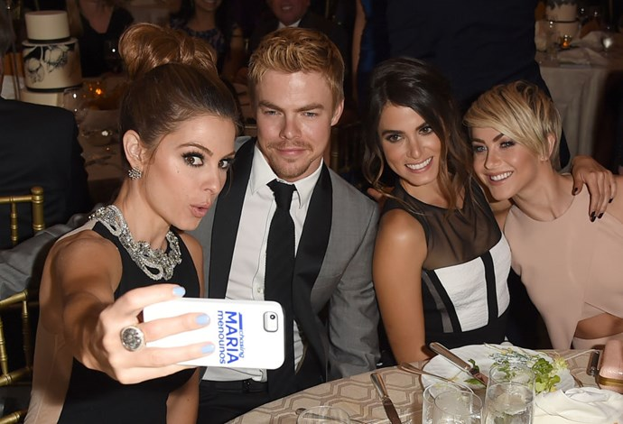 <strong>MARIA MENOUNOS, DEREK HOUGH, NIKKI REED, AND JULIANNE HOUGH</strong>