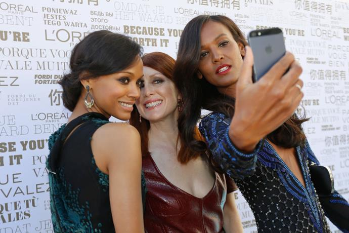 <strong>ZOE SALDANA, JULIANNE MOORE AND LIYA KEBEDE</strong>