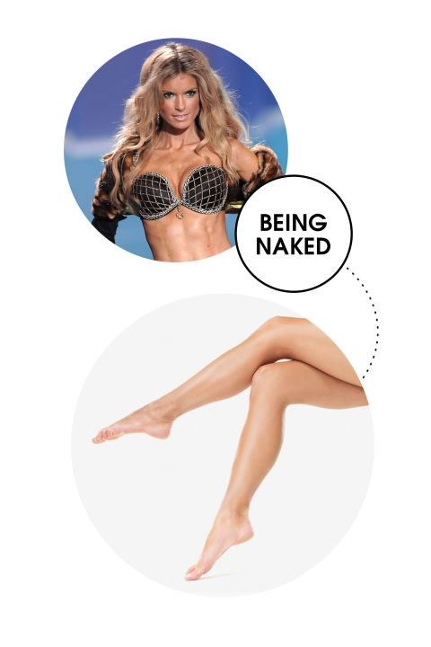 """<strong>MARISA MILLER</strong> <BR> The 36-year-old model's body is so incredible, she's logged camera time for Victoria's Secret and <em>Sport's Illustrated Swim</em>. And her tip for keeping her diet in check is kind of genius: She keeps her bod on display at all times. """"Eating smart is all about having an awareness of your body,"""" she explained to Women's Health in 2012. """"The most obvious way to do that is by seeing it. So when you're trying to lose weight, spend more time wearing less. I don't think I could eat a plate of nachos naked- could you?"""""""