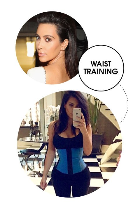 <strong>KIM KARDASHIAN</strong> <BR> After giving birth to North, Kim whittled her midsection by wearing a corset- and launched a total waist-training sensation after Instagramming her progress. Celebs from Jessica Alba to Amber Rose have followed suit.