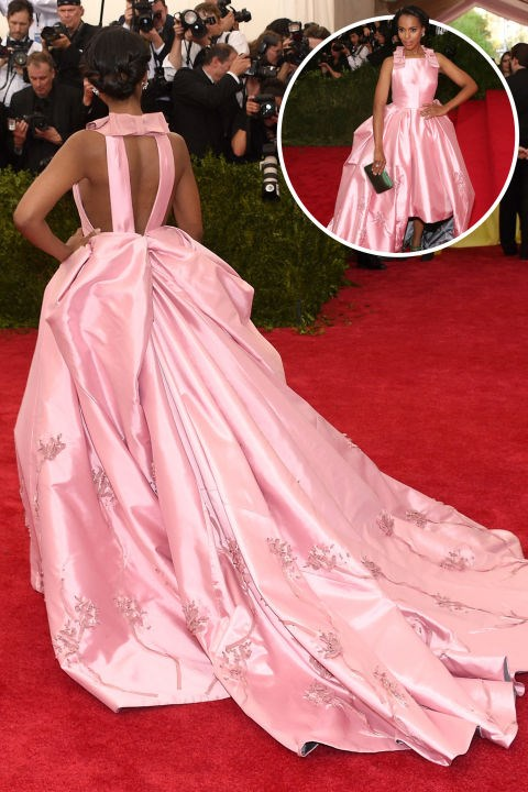 <strong>Kerry Washington</strong><br> In Prada at the 2015 Met Gala.