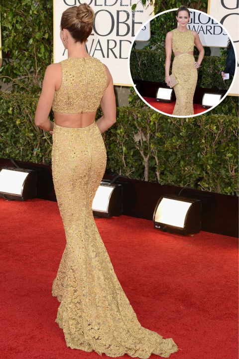 <strong>Emily Blunt</strong><br> In Pamella Roland at the 2009 Screen Actors Guild Awards