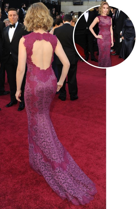<strong>Scarlett Johansson</strong><BR> In Dolce & Gabbana at the 2011 Academy Awards