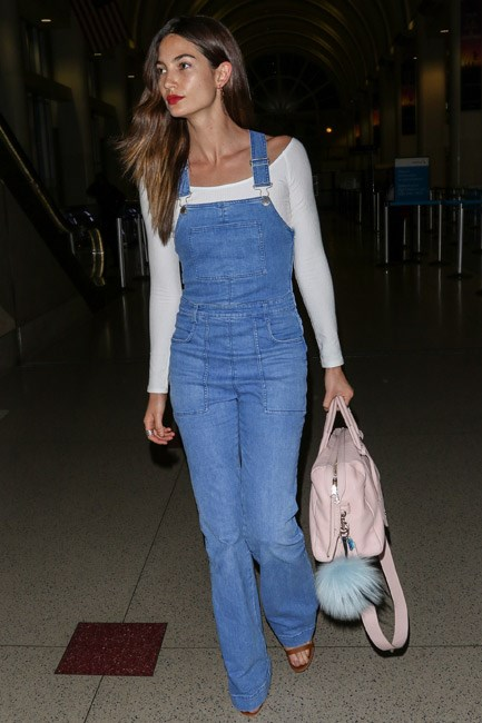 <strong>Novelty Denim</strong><br> Short overalls saw you through the sunny season, so now it's time to invest in a long-leg pair. Just layer a cashmere top <em>à la</em> Lily Aldridge and go.