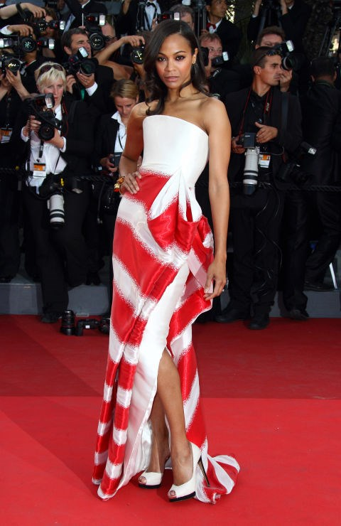 <strong>ZOE SALDANA</strong> <BR> Wearing Armani Privé in 2011.