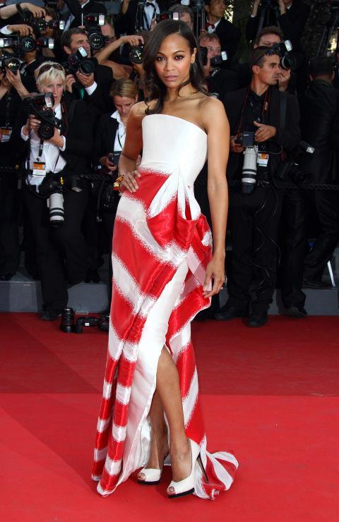 <strong>ZOE SALDANA</strong> <BR> Wearing Armani Privé in 2011.