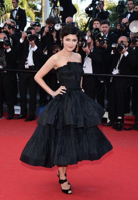 <strong>AUDREY TATOU</strong> <BR> Wearing Lanvin in 2013.