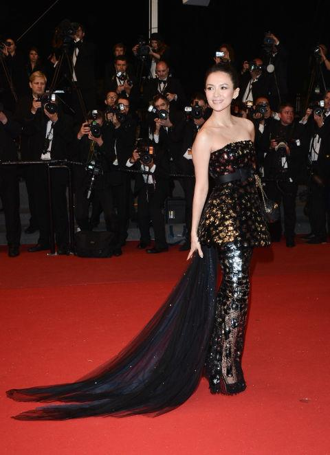 <strong>ZHANG ZIYI</strong> <BR> Wearing Chanel Haute Couture in 2013.