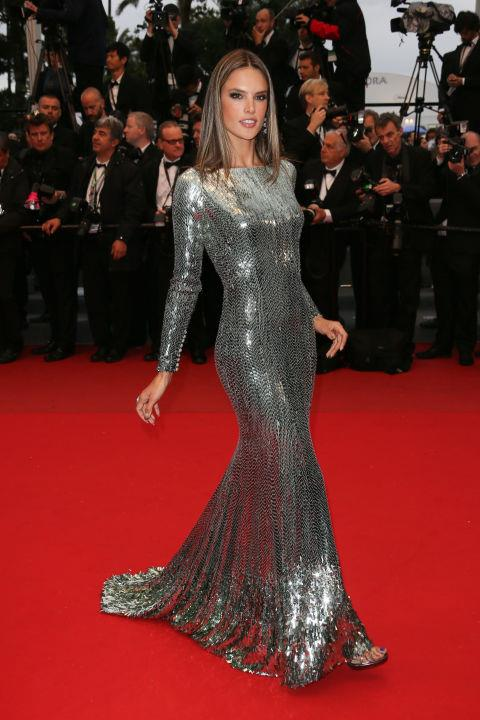 <strong>ALESSANDRA AMBROSIO</strong> <BR> Wearing Roberto Cavalli in 2013.
