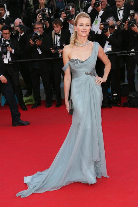 <strong>NAOMI WATTS</strong> <BR> Wearing Francesca Azzara and Marchesa in 2014.