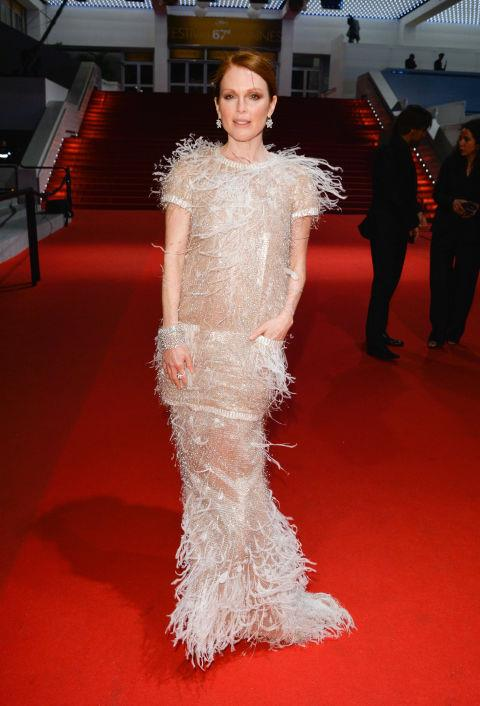 <strong>JULIANNE MOORE</strong> <BR> Wearing Chanel in 2014.