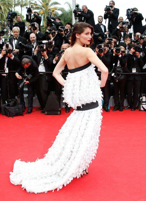 <strong>LAETITIA CASTA</strong> <BR> Wearing Dior Couture in 2014.