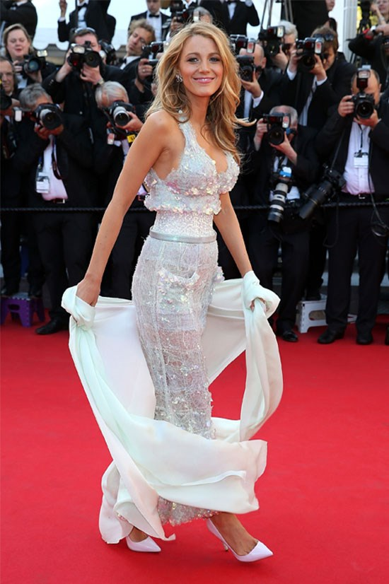 <strong>BLAKE LIVELY</strong> <BR> Wearing Chanel Couture in 2014.