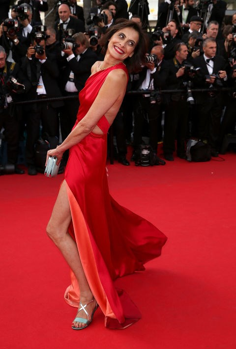 <strong>INES DE LA FRESSANGE</strong> <BR> Wearing Sophie Theallet in 2014.