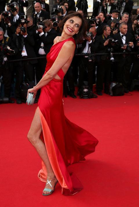 <strong>INES DE LA FRESSANGE</strong> <BR> Wearing Sophie Theallet in 2014.