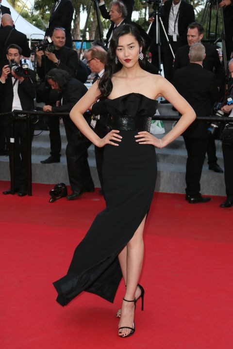 <strong>LIU WEN</strong> <BR> Wearing Saint Laurent in 2014.