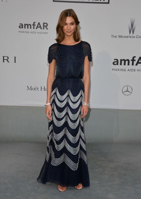 <strong>KARLIE KLOSS</strong> <BR> Wearing Chanel Couture in 2014.