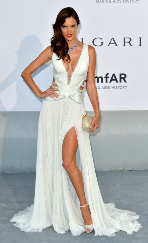 <strong>ALESSANDRA AMBROSIO</strong> <BR> Wearing Roberto Cavalli in 2014.