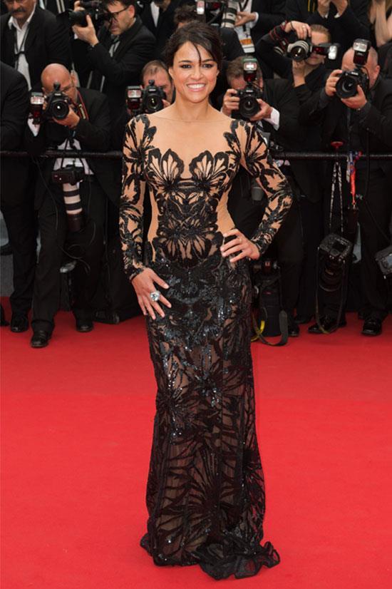 <strong>Michelle Rodriguez</strong> wearing Zuhair Murad