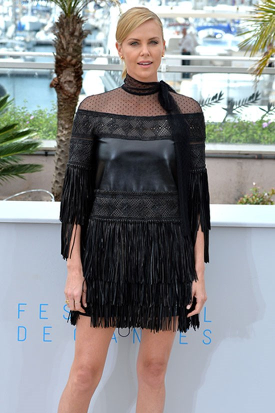 <strong>Charlize Theron</strong> wearing Valentino