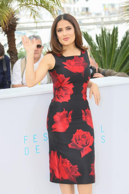 <strong>Salma Hayek</strong> wearing Alexander McQueen