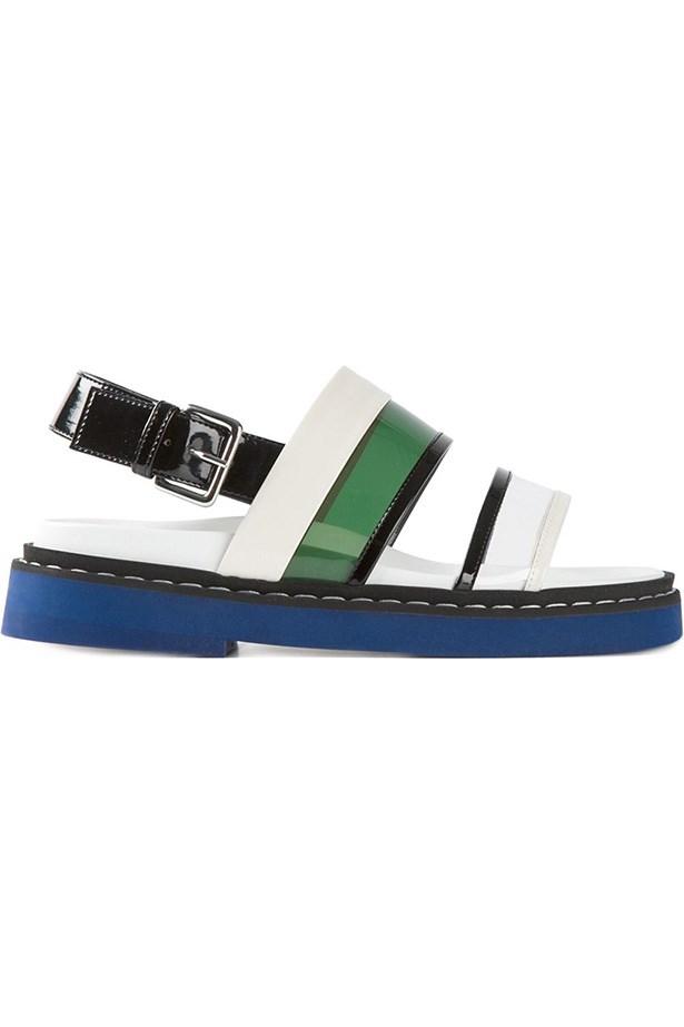 """<a href=""""http://www.farfetch.com/au/shopping/women/marni-strappy-sandals-item-10951731.aspx?storeid=9053&ffref=lp_21_20_ """">Sandals</a>, $840.60, Marni, Farfetch.com"""