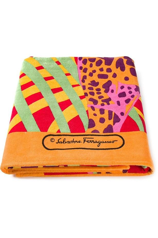 "<a href=""http://www.farfetch.com/au/shopping/women/salvatore-ferragamo-giraffe-print-beach-towel-item-10966274.aspx?storeid=9446&ffref=lp_5_2_ "">Beach towel</a>, $511.30, Salvatore Ferragamo, Farfetch.com"