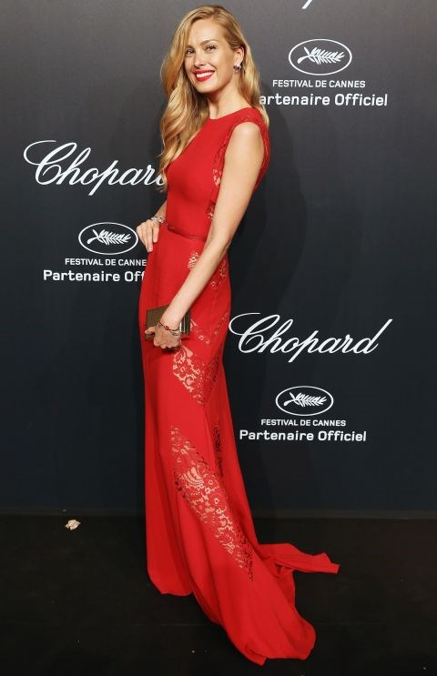 <strong>PETRA NEMCOVA</strong> <BR> In Elie Saab with Chopard jewelry