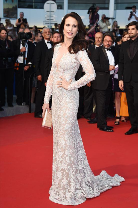 <strong>Andie MacDowell</strong> wearing Ralph & Russo Couture
