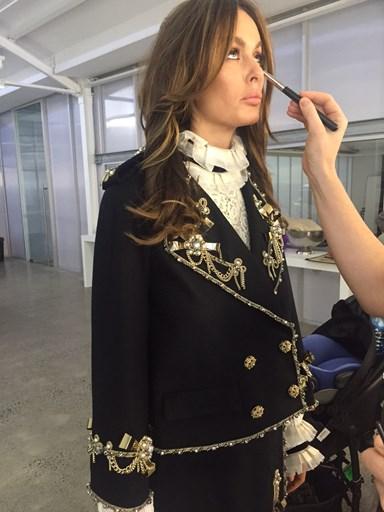 Behind the scenes of Nicole Trunfio's ELLE Australia cover