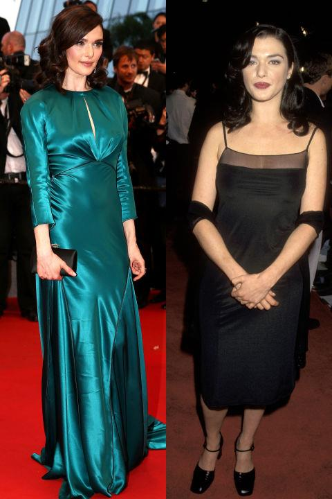 <strong>RACHEL WEISZ</strong> <BR> <strong>Now:</strong> At the Cannes Film Festival <BR> <strong>Then:</strong> At the premiere of <em>Swept From the Sea</em> in 1997
