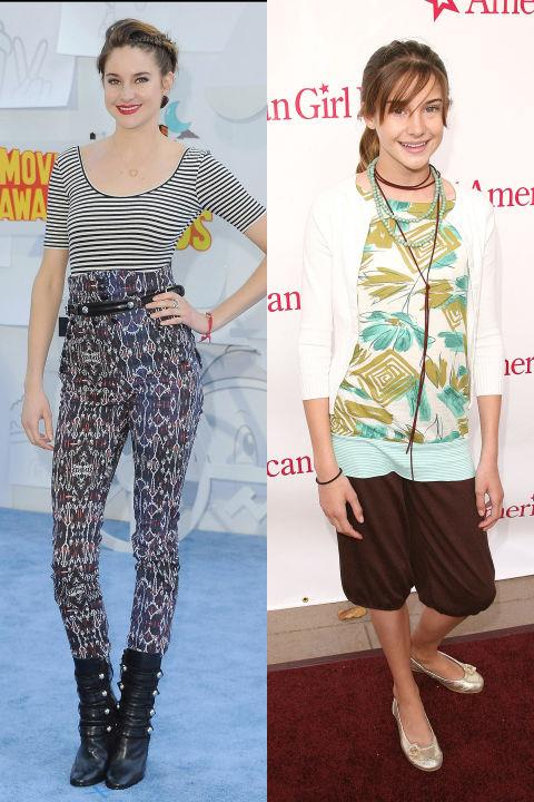 <strong>SHAILENE WOODLEY</strong> <BR> <strong>Now:</strong> At the MTV Movie Awards <BR> <strong>Then:</strong> At the American Girl Store opening in 2006