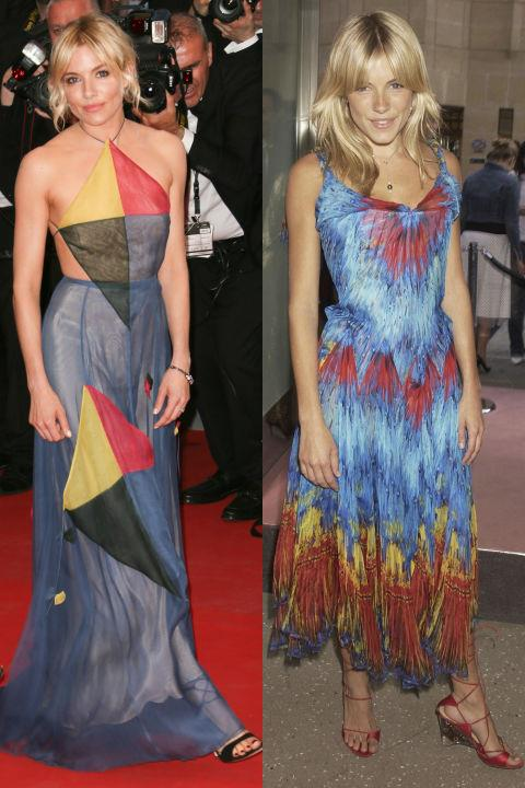 <strong>SIENNA MILLER</strong> <BR> <strong>Now:</strong> At the Cannes Film Festival <BR> <strong>Then:</strong> At the Launch Party For Alexander McQueen's New London Store in 2003