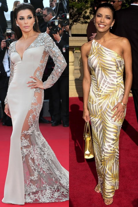 <strong>EVA LONGORIA</strong> <BR> <strong>Now:</strong> At the Cannes Film Festival <BR> <strong>Then:</strong> At the 2001 ALMA Awards