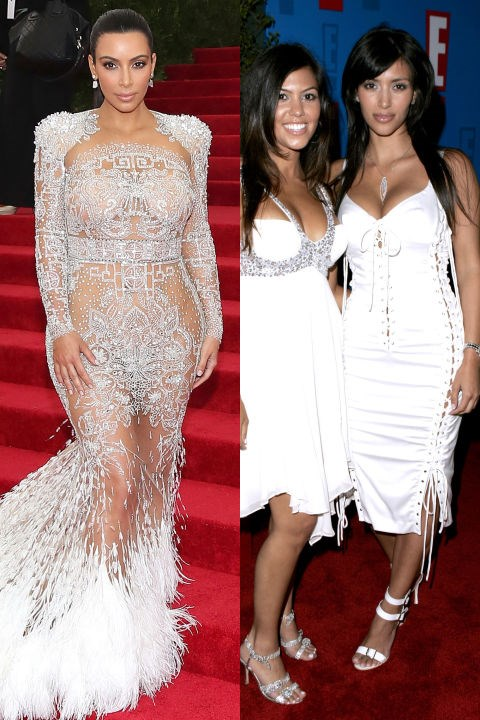 <strong>KIM KARDASHIAN</strong> <BR> <strong>Now:</strong> At the Met Gala <BR> <strong>Then:</strong> At E! Entertainment Television's 2005 Summer Splash event