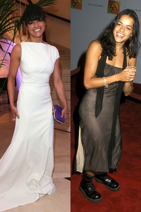 <strong>MICHELLE RODRIGUEZ</strong> <BR> <strong>Now:</strong> At the Cannes Film Festival <BR> <strong>Then:</strong> At the Latin Grammy Awards in 2000