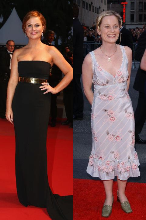 <strong>AMY POEHLER</strong> <BR> <strong>Now:</strong> At the Cannes Film Festival <BR> <strong>Then:</strong> At the NBC 75th Anniversary celebration in 2002