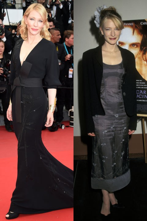 <strong>CATE BLANCHETT</strong> <BR> <strong>Now:</strong> At the Cannes Film Festival <BR> <strong>Then:</strong> At the premiere of <em>Oscar And Lucinda</em> in 1997