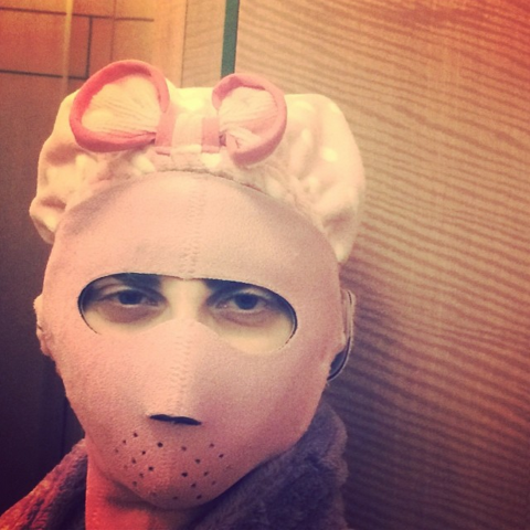 "<strong>LADY GAGA</strong> <BR> Pre show regime, or I might be the Hannibal Lector of Beauty <BR> —<a href=""https://instagram.com/ladygaga/"">@ladygaga</a>"