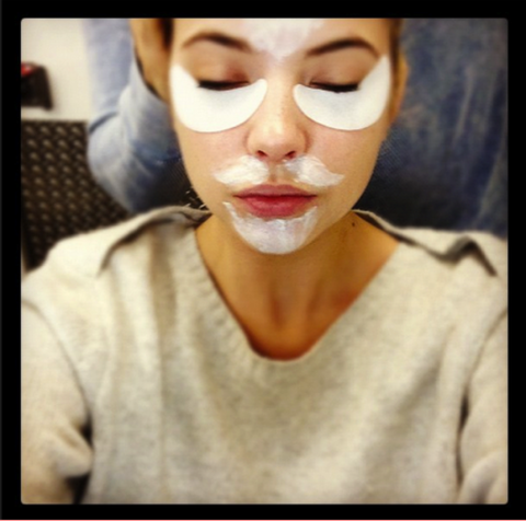 <strong>ASHLEY BENSON</strong> <BR> The last day of filming consisted of eye patches and moustaches. So hot! LOL! <BR> —Ashley Benson