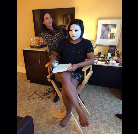 """<strong>MINDY KALING</strong> <BR> American Horror Story: Mindy Kaling <BR> —<a href=""""https://instagram.com/mindykaling/"""">@mindykaling</a>"""