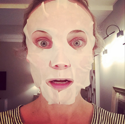 """<strong>DIANE KRUGER</strong> <BR> This is the stuff nightmares are made of ! <BR> Trying a new Nuxe face mask... <BR> #SundayFunDay#rainy#whywontthatpimplegoaway# <BR> —<a href=""""https://instagram.com/dianekrugerperso/"""">@dianekrugerperso</a>"""