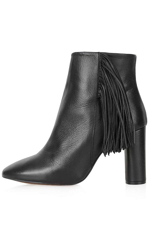 """Boot, $114, Topshop, <a href=""""http://www.topshop.com/en/tsuk/product/new-in-this-week-2169932/muskat-fringe-boots-4407024?bi=1&ps=200"""">topshop.com</a>"""