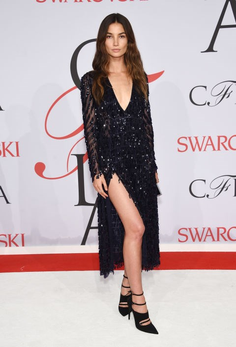 <strong>LILY ALDRIDGE</strong> <BR> in Thakoon