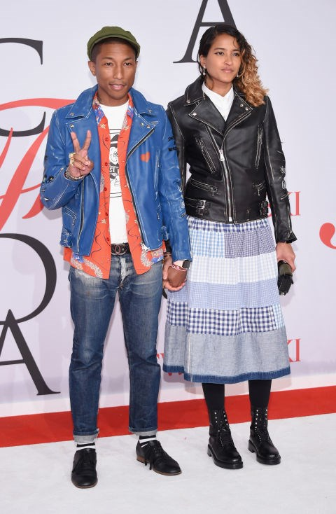 <strong>PHARRELL WILLIAMS AND HELEN LASICHANH</strong>