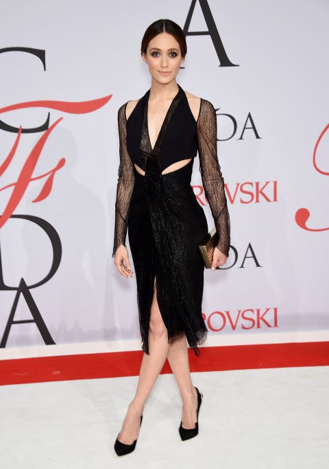 <strong>EMMY ROSSUM</strong> <BR> in Dion Lee