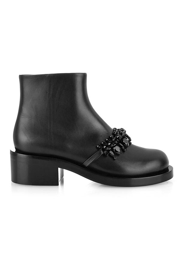 "Boots, $2308, Givenchy, <a href=""http://www.matchesfashion.com/au/products/Givenchy-Leather-and-jewel-embellished-ankle-boots-1011487"">matchesfashion.com</a>"