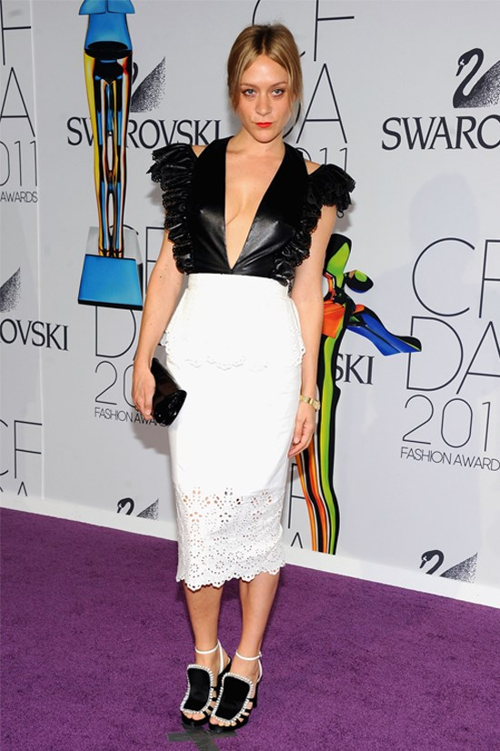 <strong>Chloë Sevigny</strong> wearing her own design at the 2011 CFDA Fashion Awards