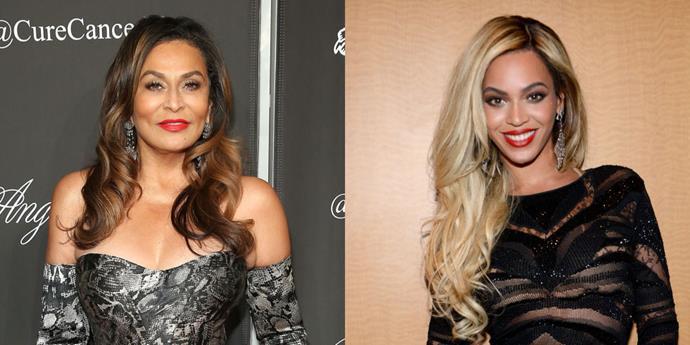 **Tina Knowles and Beyoncé Knowles**