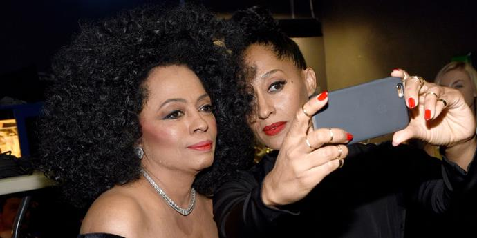 **Diana Ross and Tracee Ellis Ross**